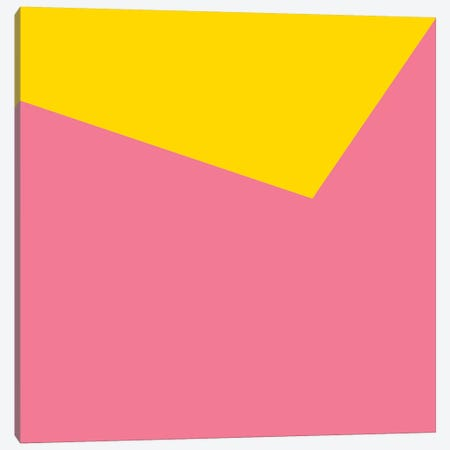 Mirra Pink Yellow Canvas Print #ARM146} by Art Mirano Canvas Art Print