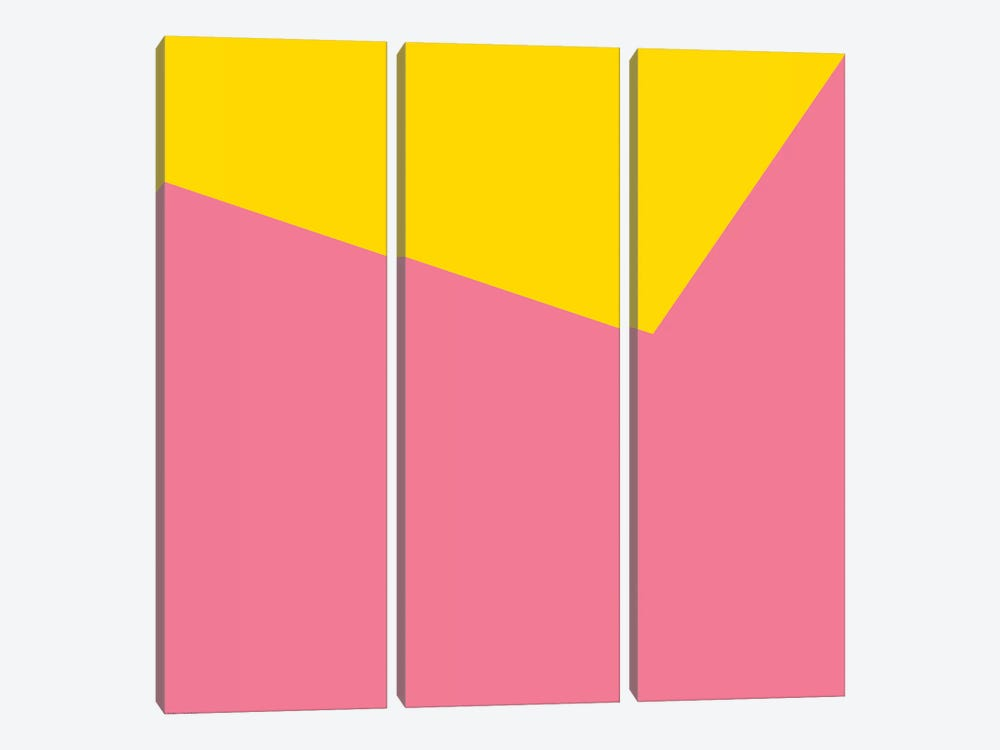 Mirra Pink Yellow by Art Mirano 3-piece Art Print