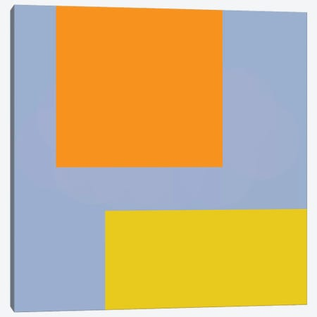 Orange Blue Yellow Canvas Print #ARM156} by Art Mirano Canvas Art