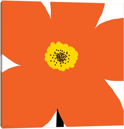 Orange Flower Canvas Art Print
