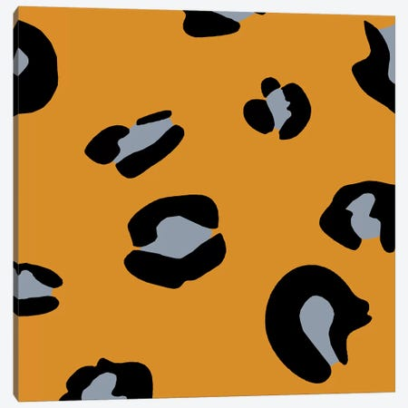 Orange Leopard Canvas Print #ARM160} by Art Mirano Canvas Artwork