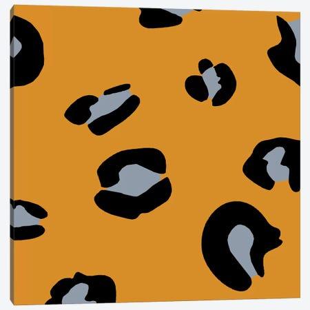Orange Leopard Canvas Print #ARM160} by Art Mirano Canvas Artwork