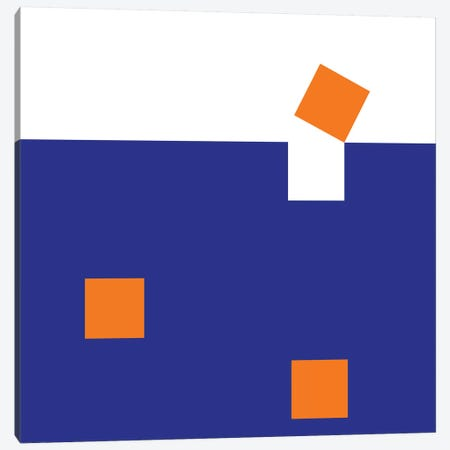 Orange Squares Canvas Print #ARM162} by Art Mirano Canvas Wall Art