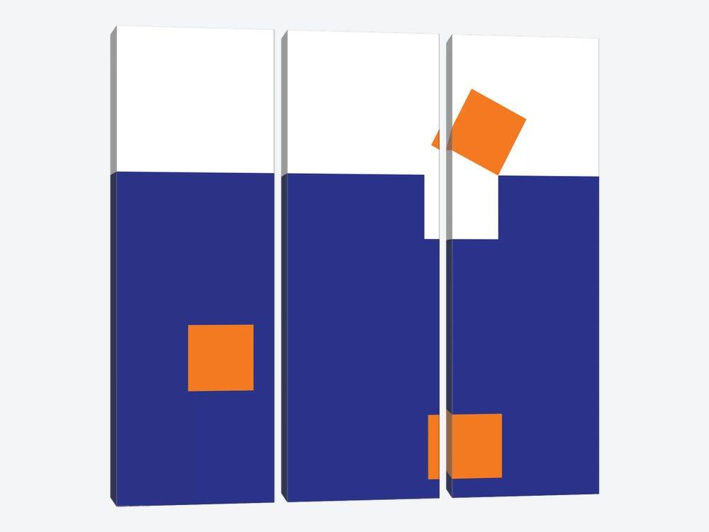 Orange Squares by Art Mirano 3-piece Art Print