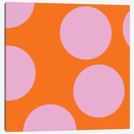 Pink Circles Canvas Print #ARM168} by Art Mirano Canvas Wall Art