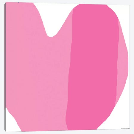 Pink Heart Canvas Print #ARM173} by Art Mirano Canvas Art Print