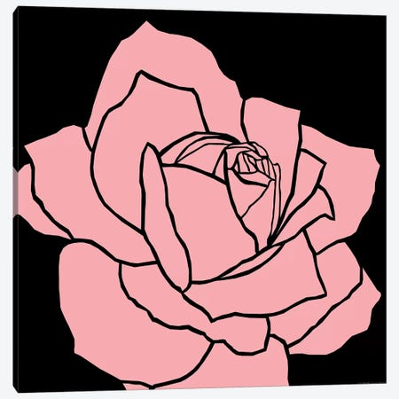 Pink Rose Canvas Print #ARM180} by Art Mirano Canvas Art