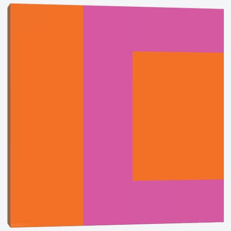 Pink Square Canvas Print #ARM181} by Art Mirano Canvas Art
