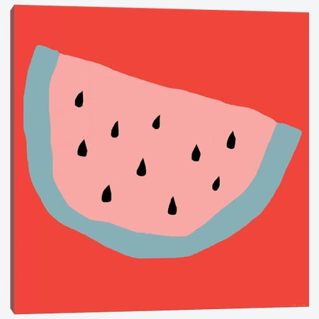 Pink Watermelon Canvas Print #ARM182} by Art Mirano Canvas Wall Art