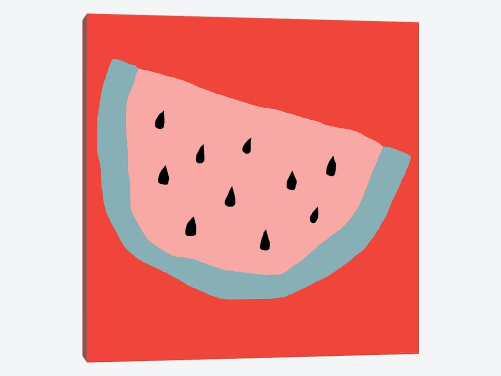 Pink Watermelon 1-piece Canvas Art Print