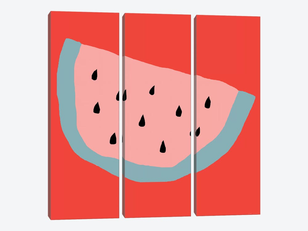 Pink Watermelon by Art Mirano 3-piece Canvas Art Print