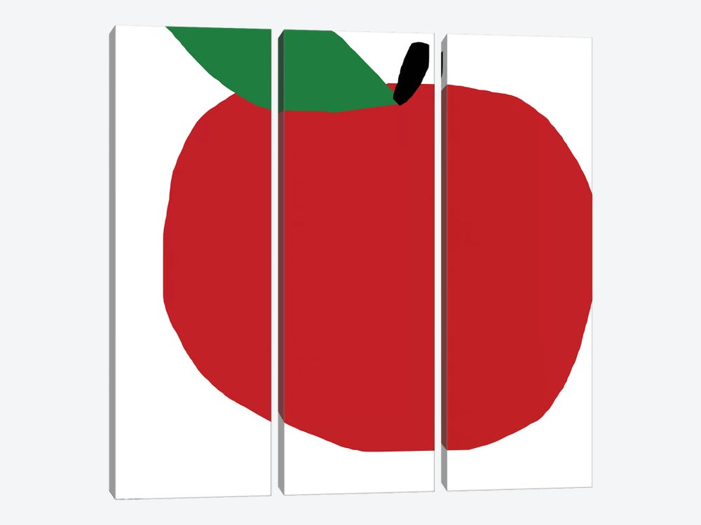 Red Apple by Art Mirano 3-piece Canvas Wall Art