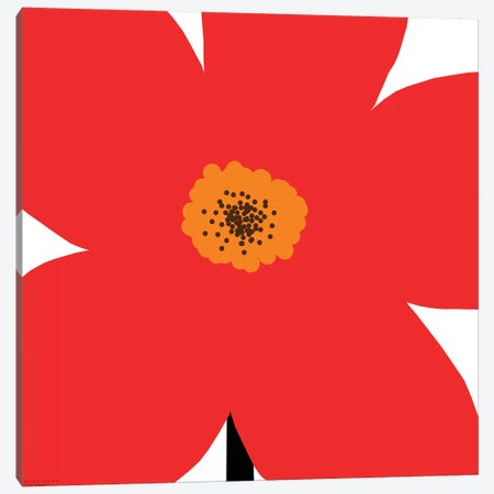 Red Flower Canvas Print #ARM189} by Art Mirano Canvas Art