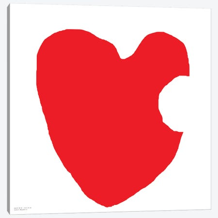 Red Heart Canvas Print #ARM190} by Art Mirano Art Print