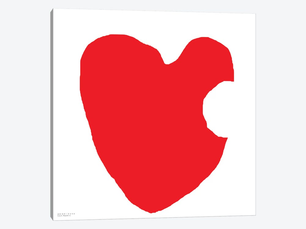 Red Heart by Art Mirano 1-piece Canvas Art