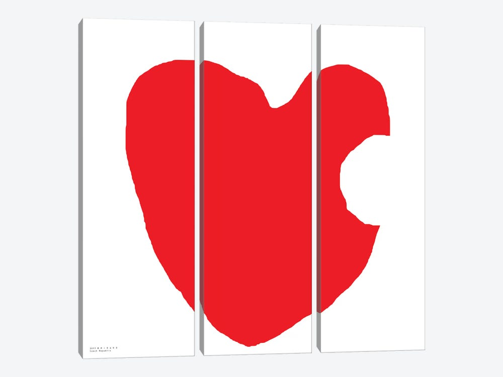 Red Heart by Art Mirano 3-piece Canvas Art