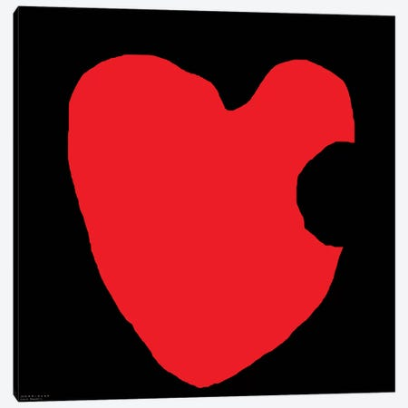 Red Heart On Black Canvas Print #ARM191} by Art Mirano Canvas Art Print