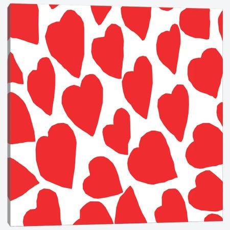 Red Hearts Canvas Print #ARM192} by Art Mirano Art Print