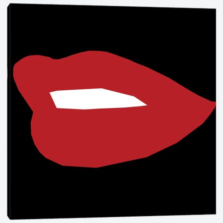 Red Lip Canvas Print #ARM193} by Art Mirano Canvas Art Print