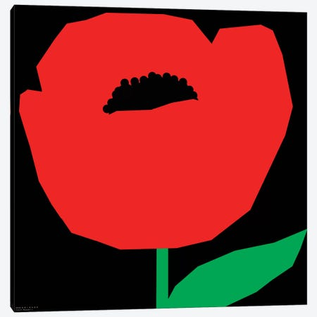 Red Poppy Canvas Print #ARM197} by Art Mirano Canvas Wall Art