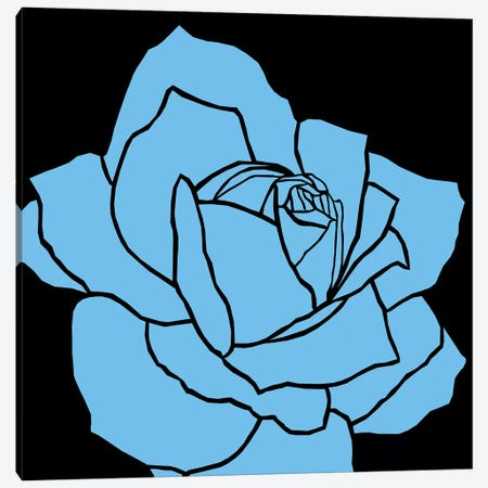 Rose Blue Ida 3-Piece Canvas #ARM202} by Art Mirano Canvas Art Print