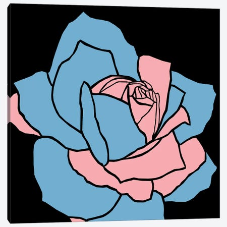Rose Pink Blue Canvas Print #ARM203} by Art Mirano Art Print