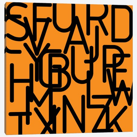 Black Alphabet Canvas Print #ARM26} by Art Mirano Art Print