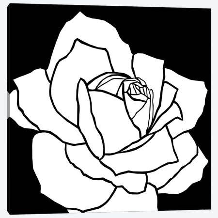 White Rose Canvas Print #ARM270} by Art Mirano Canvas Artwork