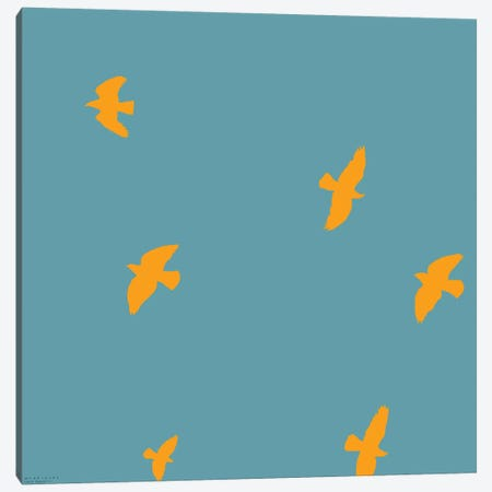 Yellow Birds Canvas Print #ARM274} by Art Mirano Canvas Art Print