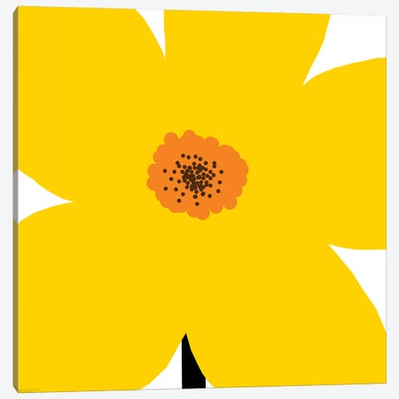 Yellow Flower Canvas Print #ARM277} by Art Mirano Art Print