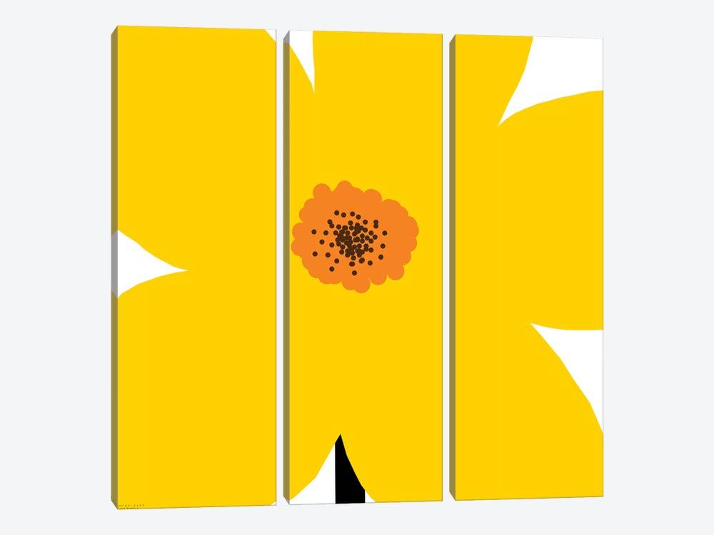 Yellow Flower by Art Mirano 3-piece Canvas Print