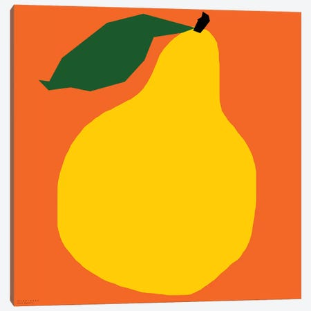 Yellow Pear Canvas Print #ARM282} by Art Mirano Art Print