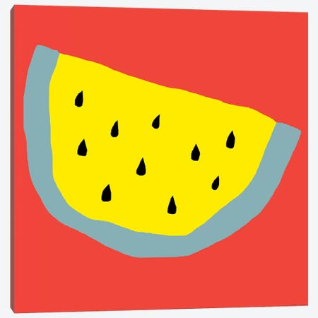 Yellow Watermelon Canvas Print #ARM284} by Art Mirano Canvas Art