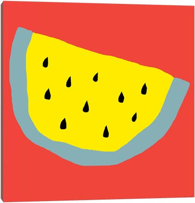 Yellow Watermelon Canvas Art Print