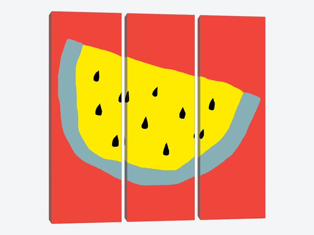 Yellow Watermelon by Art Mirano 3-piece Canvas Print