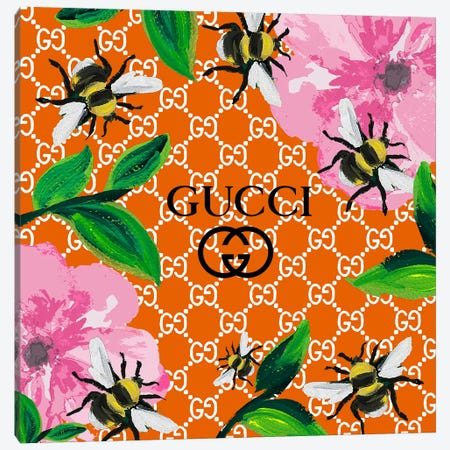 Gucci Orange Summer Canvas Print #ARM287} by Art Mirano Canvas Artwork