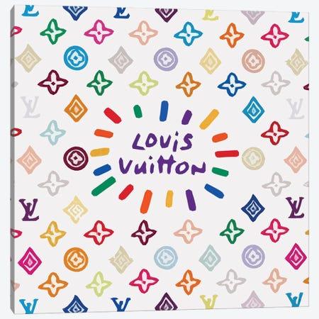 Louis Vuitton Colored Canvas Print #ARM288} by Art Mirano Canvas Art Print