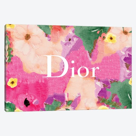 Dior Flowers Canvas Print #ARM299} by Art Mirano Canvas Wall Art