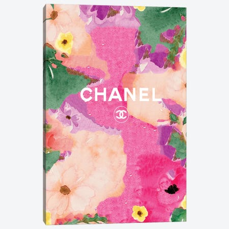 Chanel Flowers Canvas Print #ARM302} by Art Mirano Canvas Art