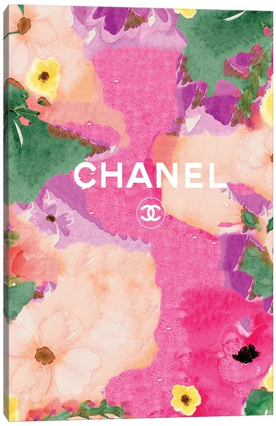 Chanel Flowers Canvas Art Print