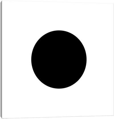 Black Circle Canvas Art Print