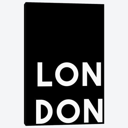 London Black Canvas Print #ARM310} by Art Mirano Canvas Print