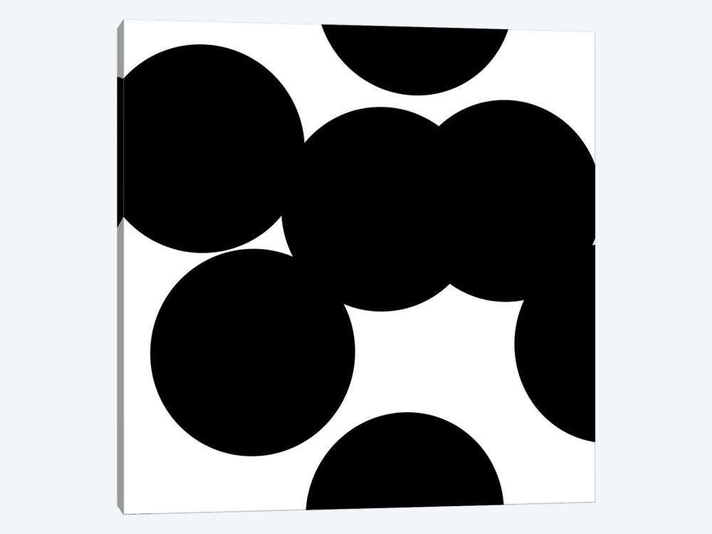 Black Circles by Art Mirano 1-piece Canvas Print