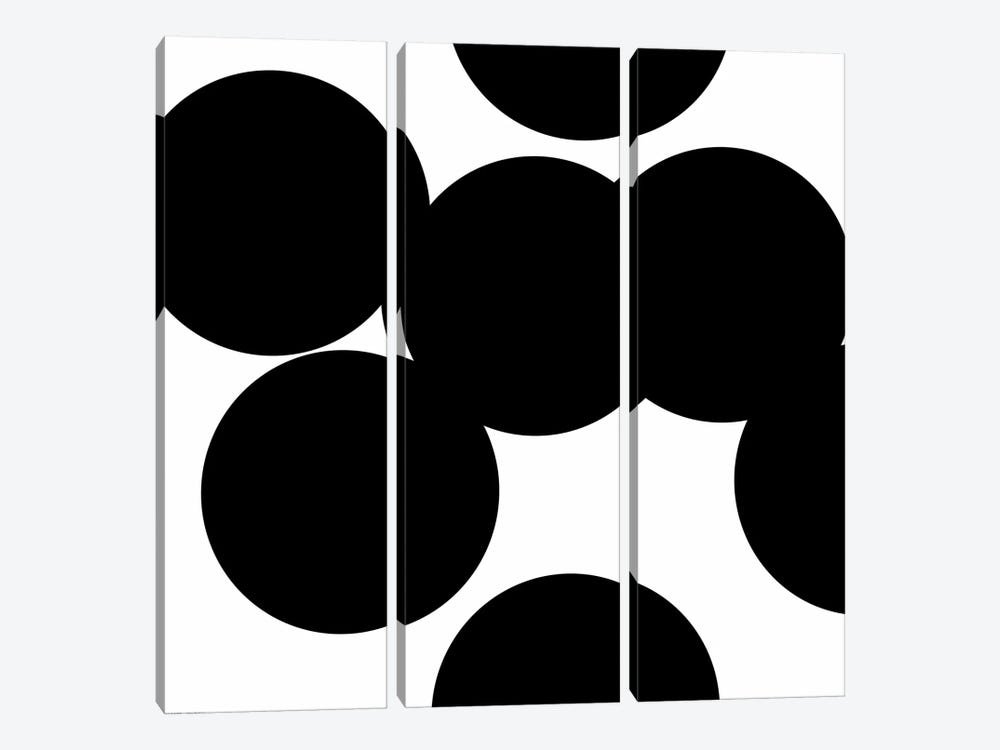 Black Circles by Art Mirano 3-piece Canvas Print