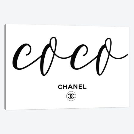 Coco Chanel Canvas Print #ARM323} by Art Mirano Canvas Art