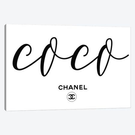 Coco Chanel Canvas Print #ARM323} by Art Mirano Canvas Art