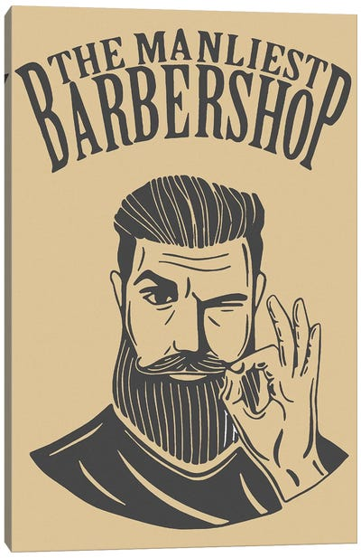 The Manliest Barbershop Canvas Art Print