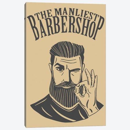 The Manliest Barbershop Canvas Print #ARM340} by Art Mirano Canvas Artwork