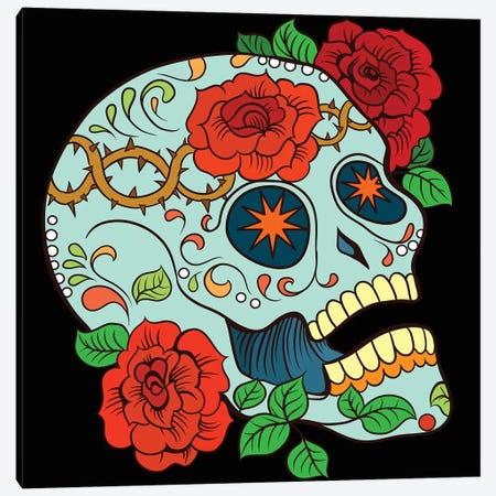 Skull & Roses 3-Piece Canvas #ARM342} by Art Mirano Canvas Artwork