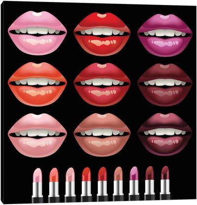 Lips Canvas Art Print